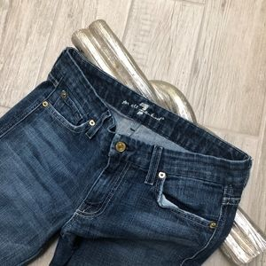 7 For All Mankind Jeans - 7 For All Mankind A Pocket Bootcut Jeans Low Rise